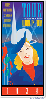 tour the 1939 NY World's Fair poster by Stephen Foster